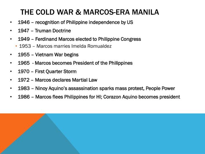 the cold war & Marcos-era Manila