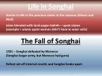 life in songhai
