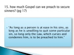 15 how much gospel can we preach to secure sinners pg 17