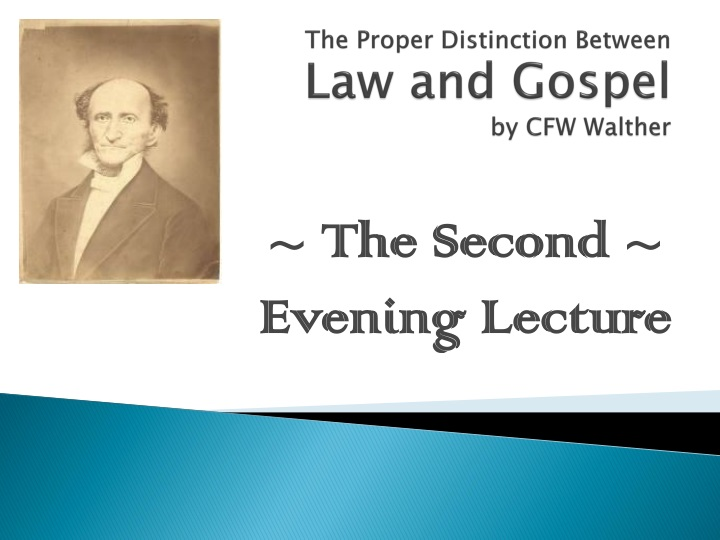 the proper distinction between law and gospel by cfw walther n.