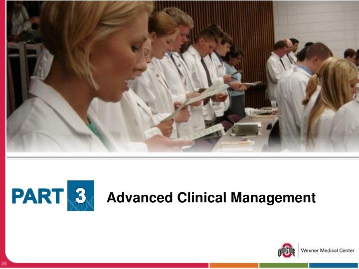 Advanced Clinical Management