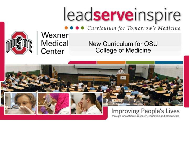 New Curriculum for OSU College of Medicine