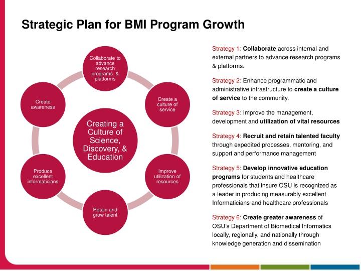 Strategic Plan for BMI Program Growth