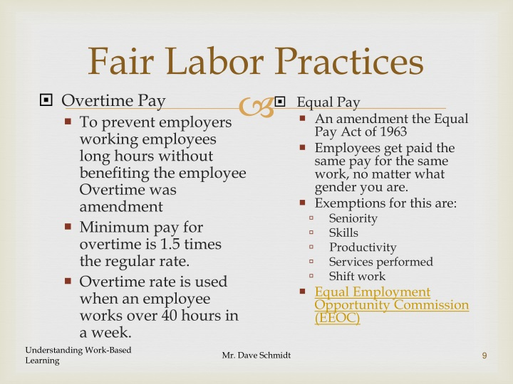 Fair Labor Practices