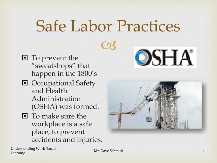 Safe Labor Practices