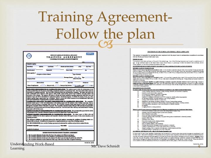 Training Agreement-Follow the plan