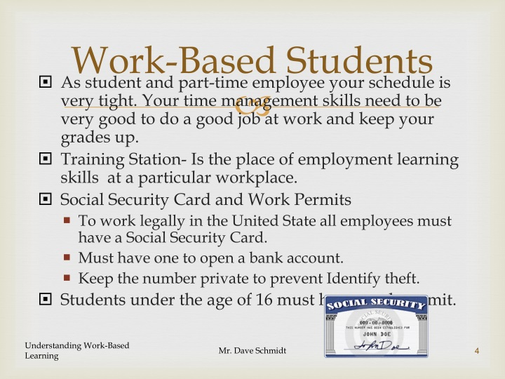 Work-Based Students