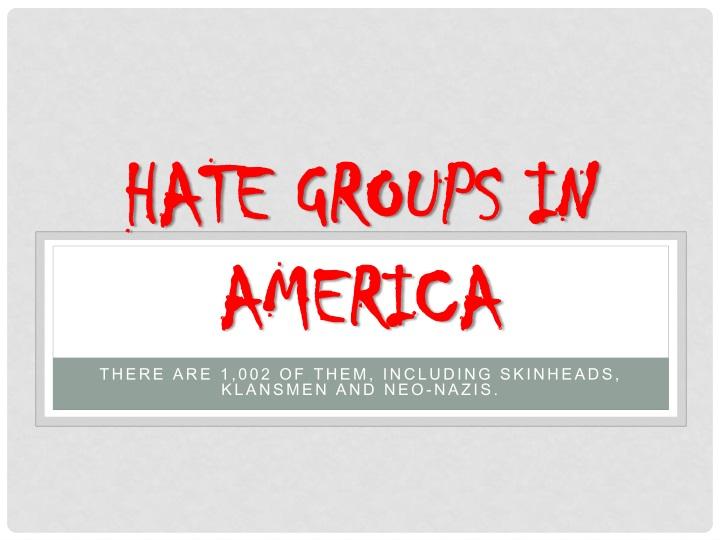hate groups in america n.