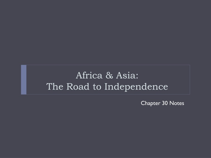 africa asia the road to independence n.