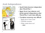 arab independence