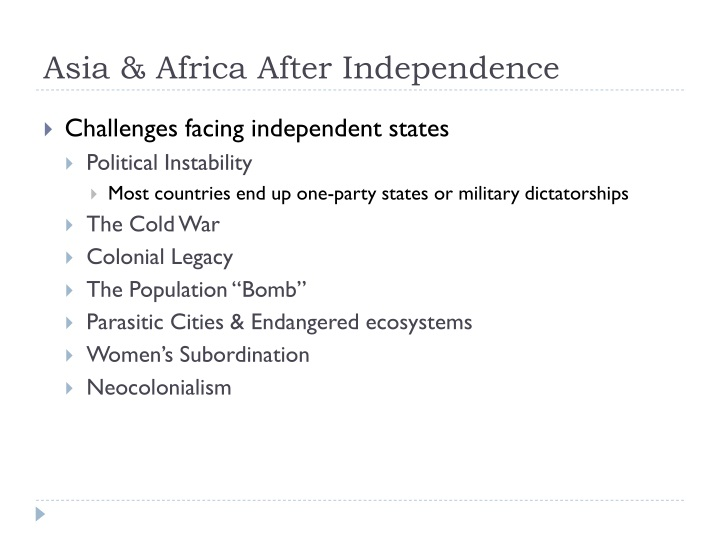 Asia & Africa After Independence