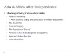 asia africa after independence
