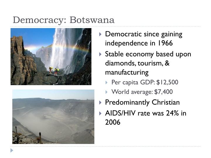 Democracy: Botswana