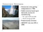 democracy botswana