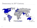 democracy in 20 th century