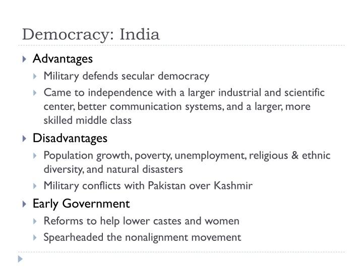 Democracy: India