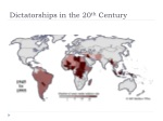 dictatorships in the 20 th century