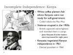 incomplete independence kenya