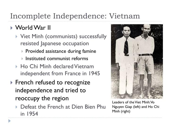 Incomplete Independence: Vietnam