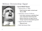 military dictatorship egypt
