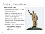 one party state ghana