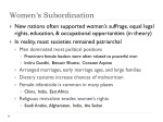 women s subordination