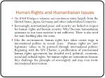 human rights and humanitarian issues6