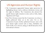 un agencies and human rights1