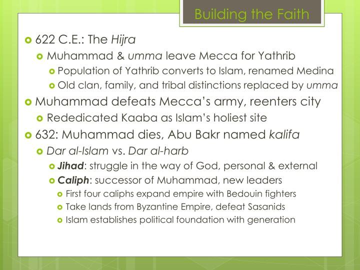 Building the Faith