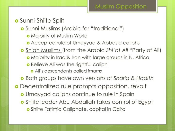 Muslim Opposition