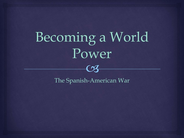 becoming a world power n.