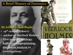 a brief history of forensics