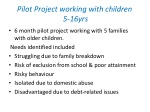 pilot project working with children 5 16yrs
