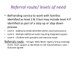 referral route levels of need