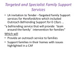 targeted and specialist family support services
