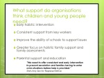 what support do organisations think children and young people need