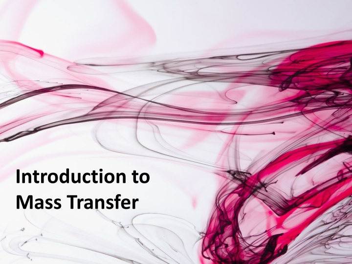 introduction to mass transfer n.