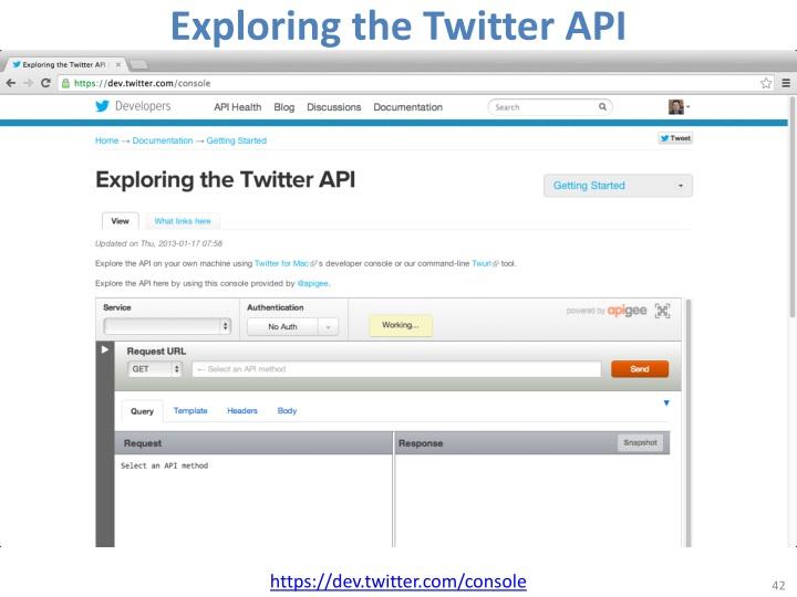 Exploring the Twitter API