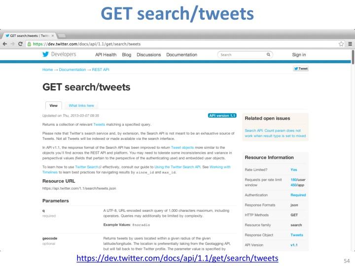 GET search/tweets