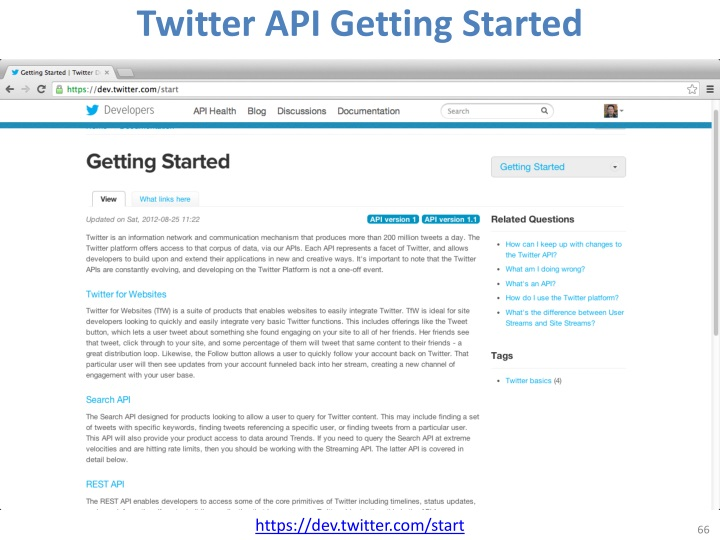 Twitter API Getting Started