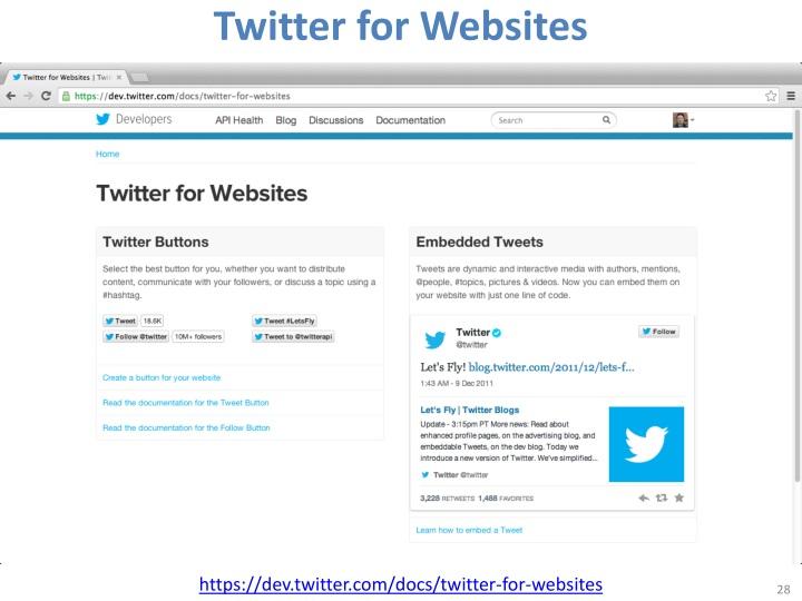Twitter for Websites