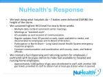 nuhealth s response