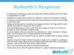 nuhealth s response1