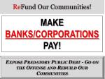re fund our communities