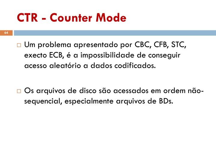 CTR - Counter Mode