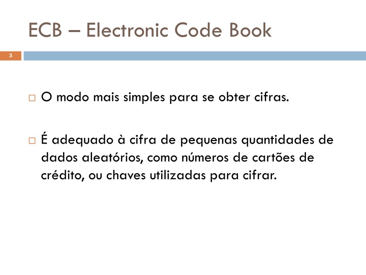 Ecb electronic code book