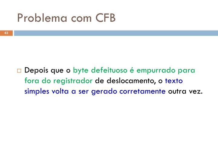 Problema com CFB