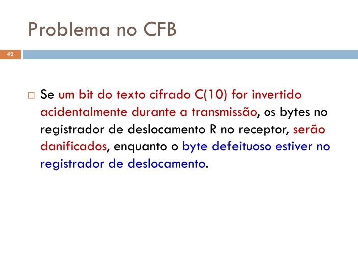Problema no CFB