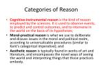 categories of reason