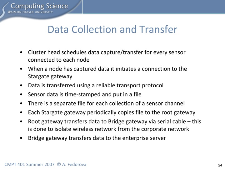 Data Collection and Transfer